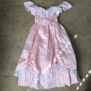 AWESOME 80's Prom Party Dress Vintage Gown Pink